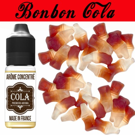 E-liquide naturels - Goût arôme bonbon cola - VDP