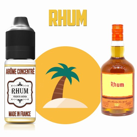 E-liquide naturels - Goût arôme Rhum ambré de Martinique - VDP