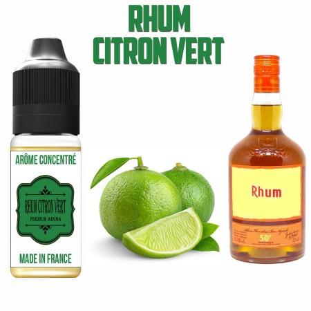 E-liquide naturels - Arôme Rhum Citron Vert - laboutiquevdp