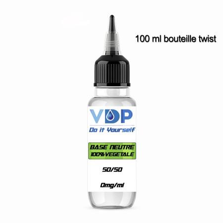 E-liquide naturels - BASE 50/50 - VDP - 100% Naturelle - 100ml - VDP