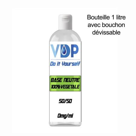 E-liquide naturels - BASE 50/50 - VDP - 100% naturelle - 1 litre - VDP