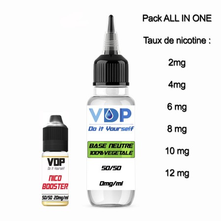 E-liquide naturels - PACK ALL IN ONE 50/50 - 100ml - VDP