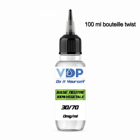 E-liquide naturels -  BASE 30/70 - VDP - 100% naturelle - 100ml - 100% naturel - VDP