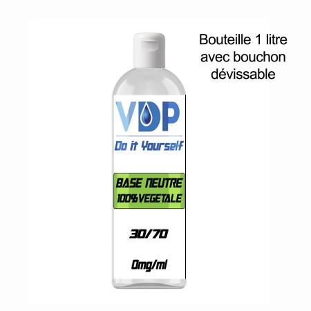 E-liquide naturels -  BASE 30/70 - VDP - 100% naturelle - 1 litre - 100% naturel - VDP