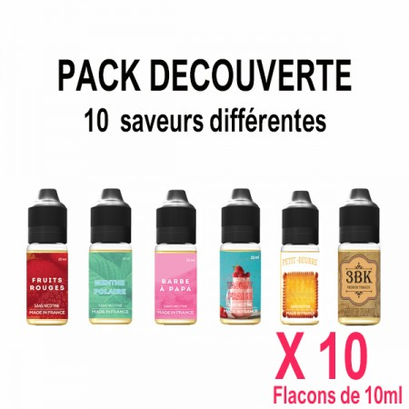 Pack découverte, E- liquides 100% naturels - Produit en France par la société VDP - 100% naturel et francais