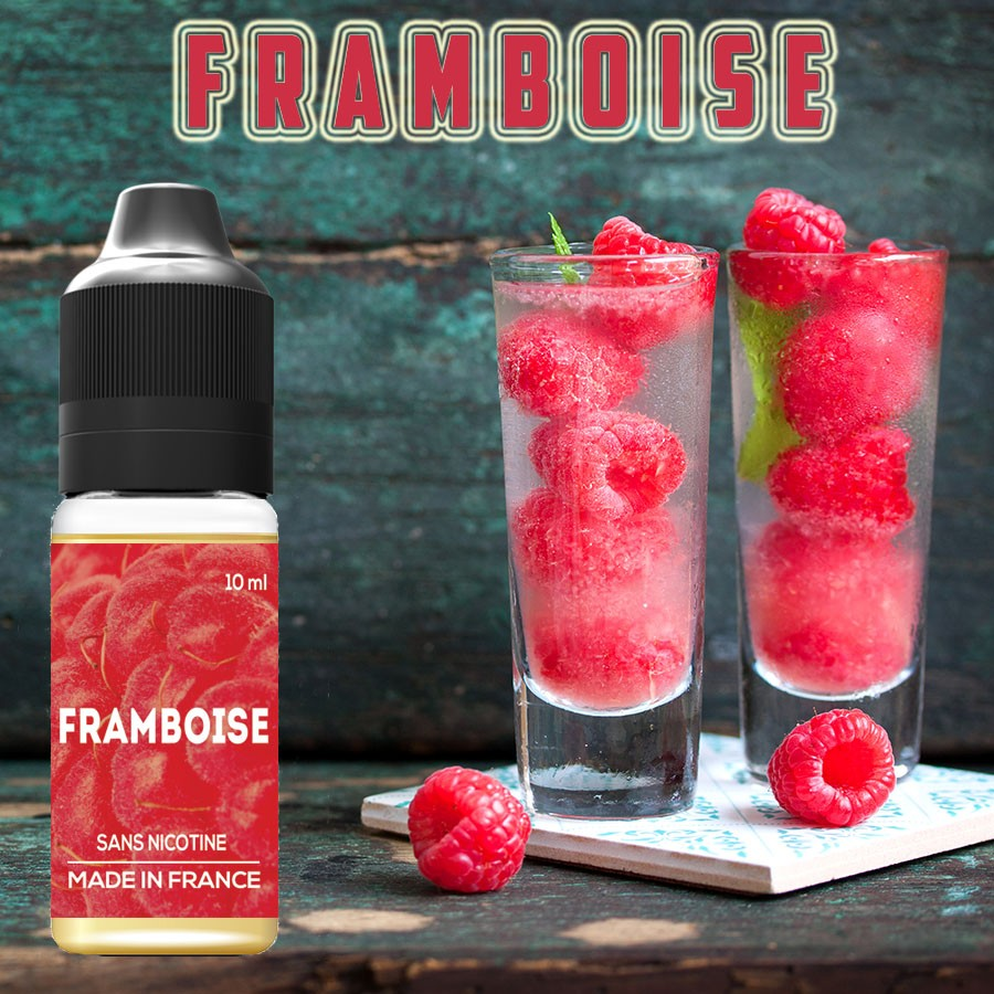 E-liquide naturels - Goût FRAMBOISE - la boutique vdp